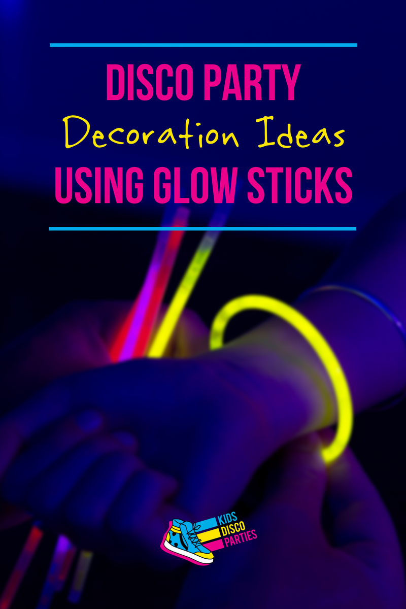 Disco Party Decoration Ideas Using Glow Sticks - Disco Party Decorations