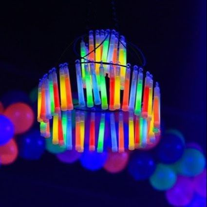 Disco Party Decoration Ideas - Glowing Chandelier
