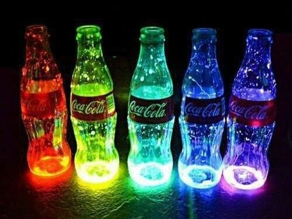 Disco Party Decoration Ideas - Glowing bottles