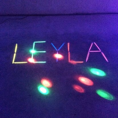 Disco Party Decoration Ideas, Disco Party Decorations using glow sticks